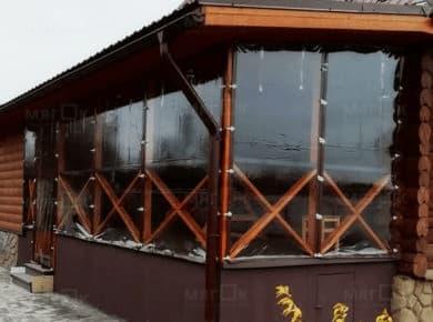 Мягкие окна ПВХ для террасы в Красногорске