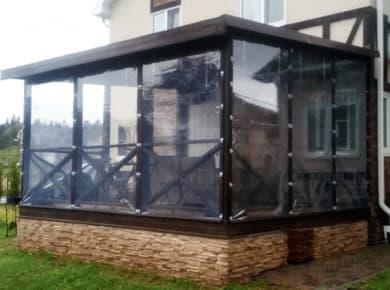 Мягкие окна ПВХ для террасы в Раменском