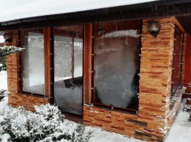 Мягкие окна ПВХ для беседки в Одинцово