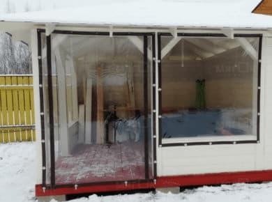 Мягкие окна ПВХ для беседки в Ногинске