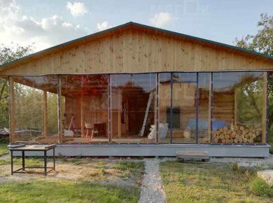 Мягкие окна ПВХ для веранды в Красногорске