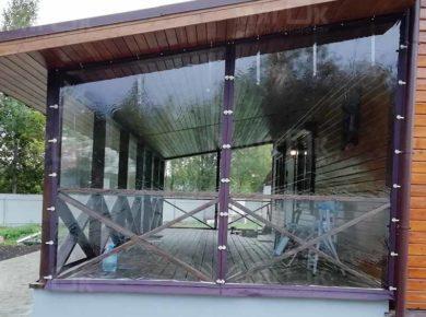 Мягкие окна ПВХ для террасы в Калуге