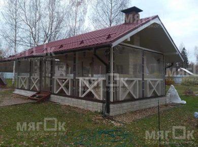 Мягкие окна для беседки в Пушкино