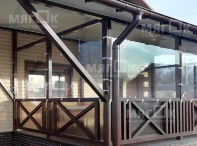 Мягкие окна ПВХ для террасы в Лобне