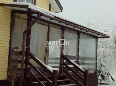 Мягкие окна ПВХ для террасы в Пушкино