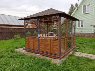 Мягкие окна ПВХ для беседки в Одинцовом районе