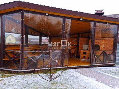 Мягкие окна ПВХ для беседки в Дмитровском районе