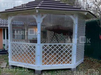 Мягкие окна для беседки в Жуковском
